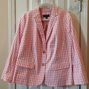 Talbots  gingham jacket